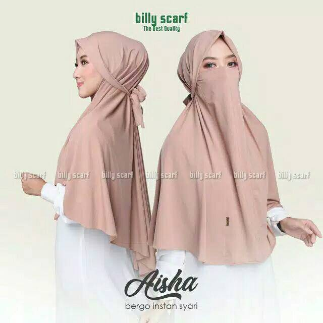 Aisha Bergo Hijab Niqab Hijab Masker Hijab Niqob Shopee Indonesia