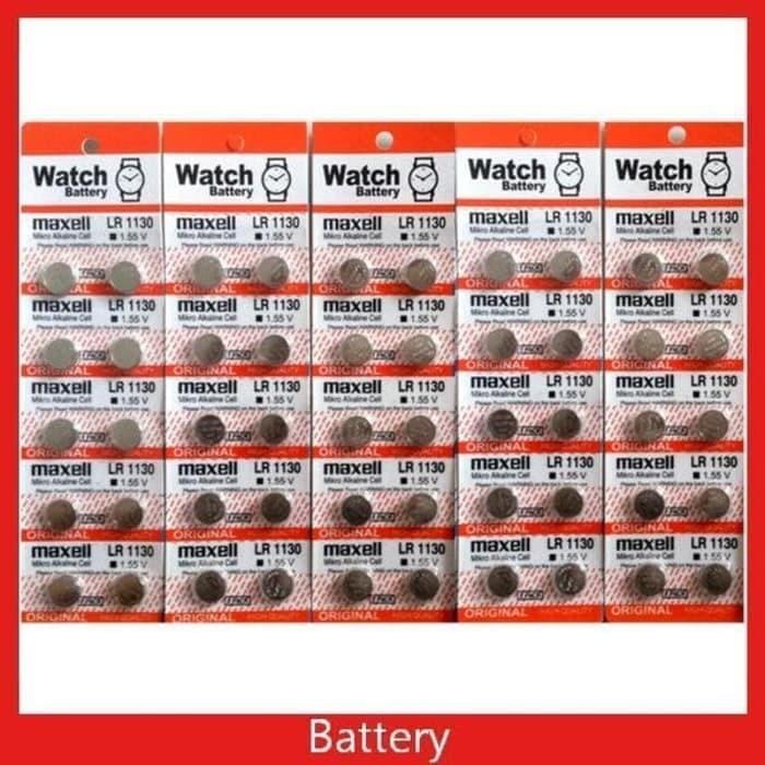 Baterai Jam / Kalkulator Kancing LR1130 AG10 1130 Maxell | Shopee Indonesia