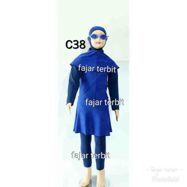 7- 12 Th Baju Renang Anak Perempuan Muslimah Wanita Muslim
