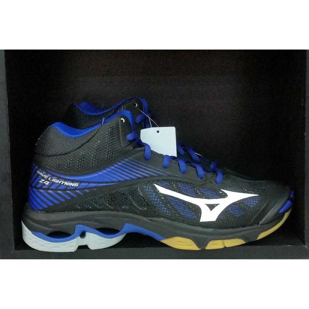 Sepatu Voli Mizuno V1ga180565 Wave Lightning Z4 Mid Blue Mirage ... 5d5ed3f5db