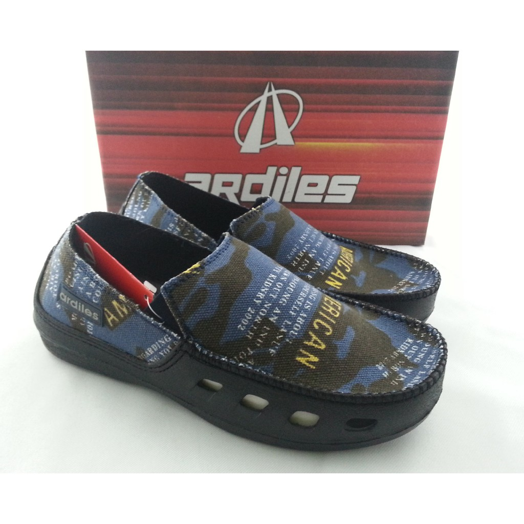 Ardiles Men Kaulun Sepatu Slip On Biru Hitam Cokalt Shopee Women Evelina 40 Indonesia