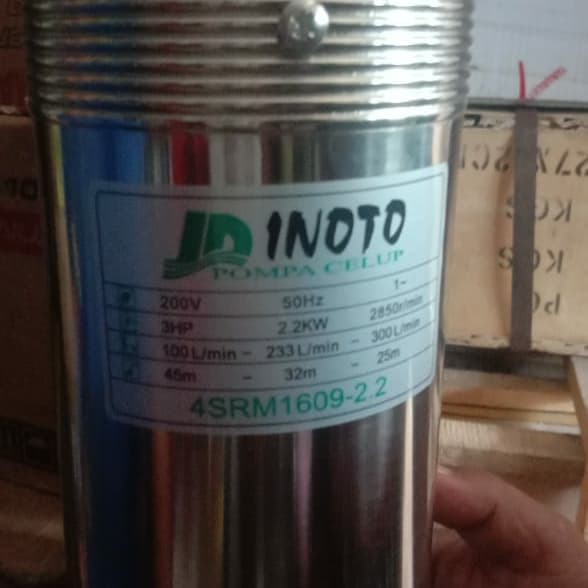 Pompa Air Celup Sumur Pompa Submersible Pump Inoto output 2.5inch 3 HP NewORI239