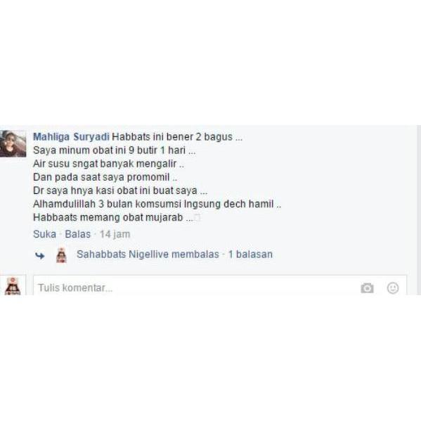 Larismanis Promil Habbatussauda Soft Capsul Program Hamil Penyubur Kandungan