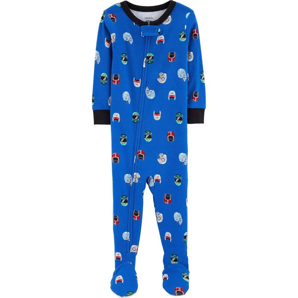 Carter/'s Baby and Toddler Boys/' 3-Pack Snug Fit Footed Cotton Pajamas NEW