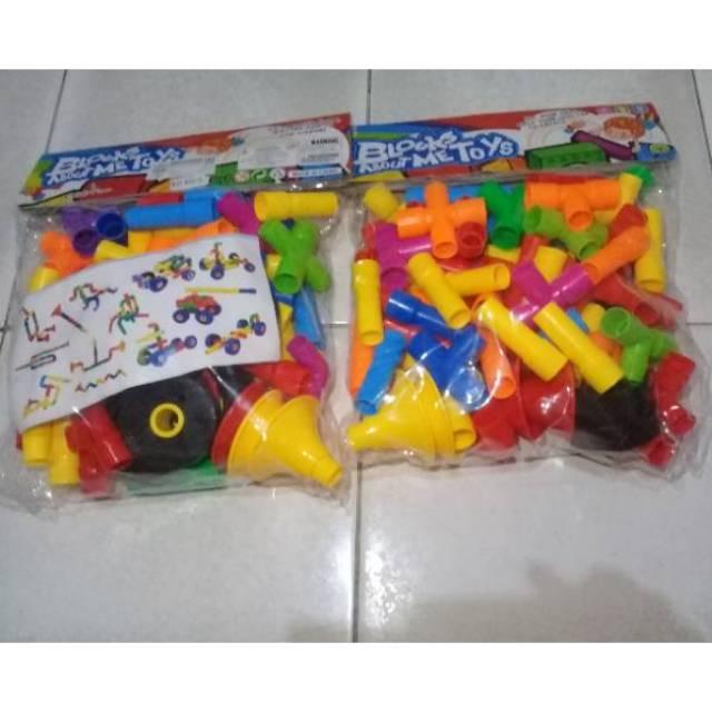 KREATIF BLOCK/BRICK 216 Pcs/LEGO MURAH TAS JINJING/BLOCK PINTAR/HAPPY