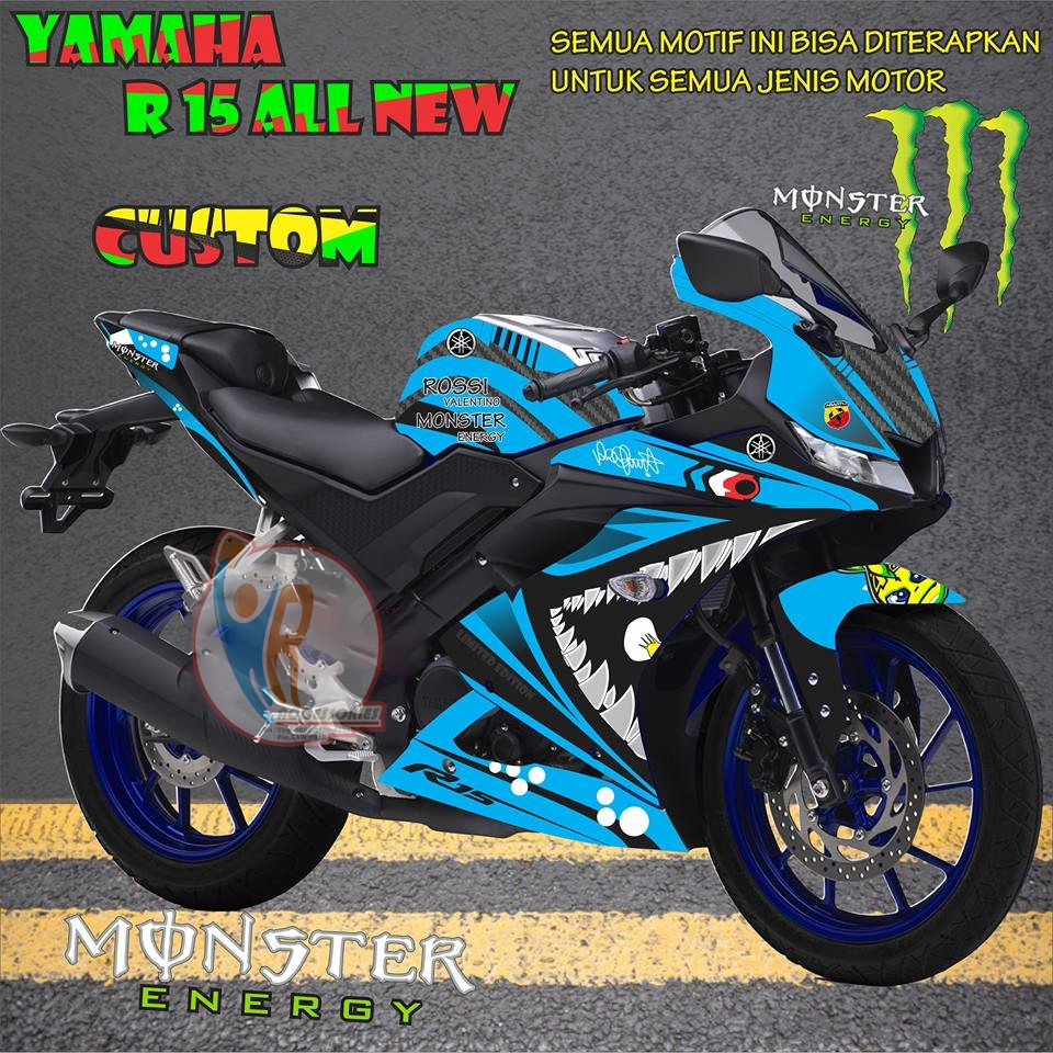 Original decal striping motor yamaha r25 free custom kode hy01 shopee indonesia