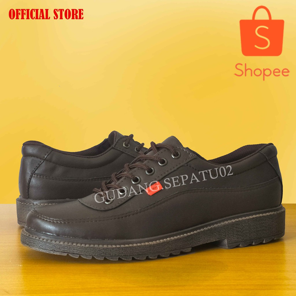 Sepatu Kickers Casual Fourhole Shopee Indonesia Dr Kevin Mens Sneakers Fs 13325 Black Hitam 44