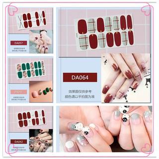 [COD] 14tips Set Stiker Kuku Warna Polos untuk Dekorasi Nail Art thumbnail