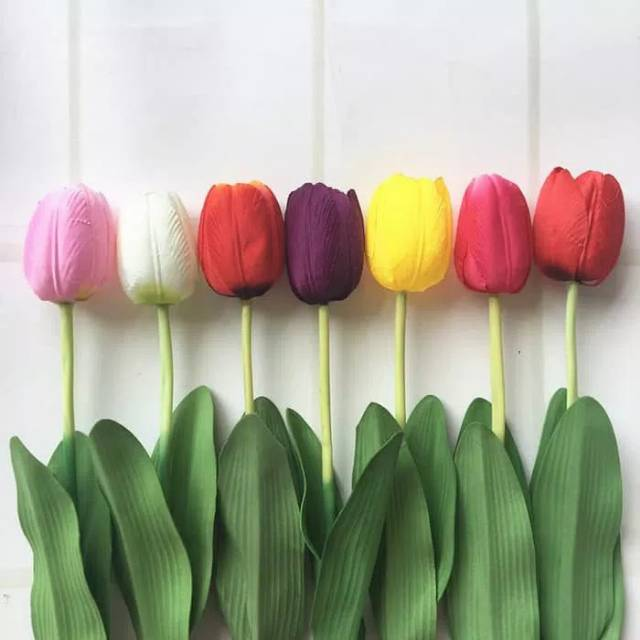 8 Warna Bunga Tulip Artifisial Bunga Palsu Dekorasi Ruangan Shopee Indonesia