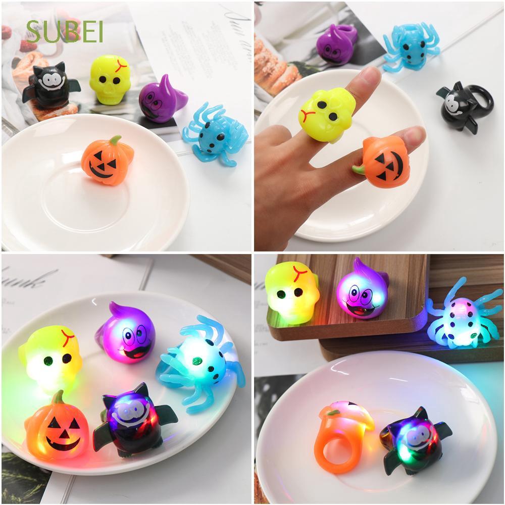1Pc Mainan Kunyah Bentuk Labu Kelelawar Laba Laba Tengkorak Laba Laba Untuk Anak