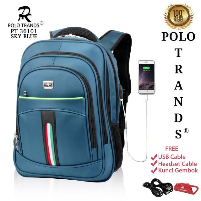 Tas Laptop Backpack Ransel Pria Polo Classic 132 Expanding (L ... 81b458a4c9