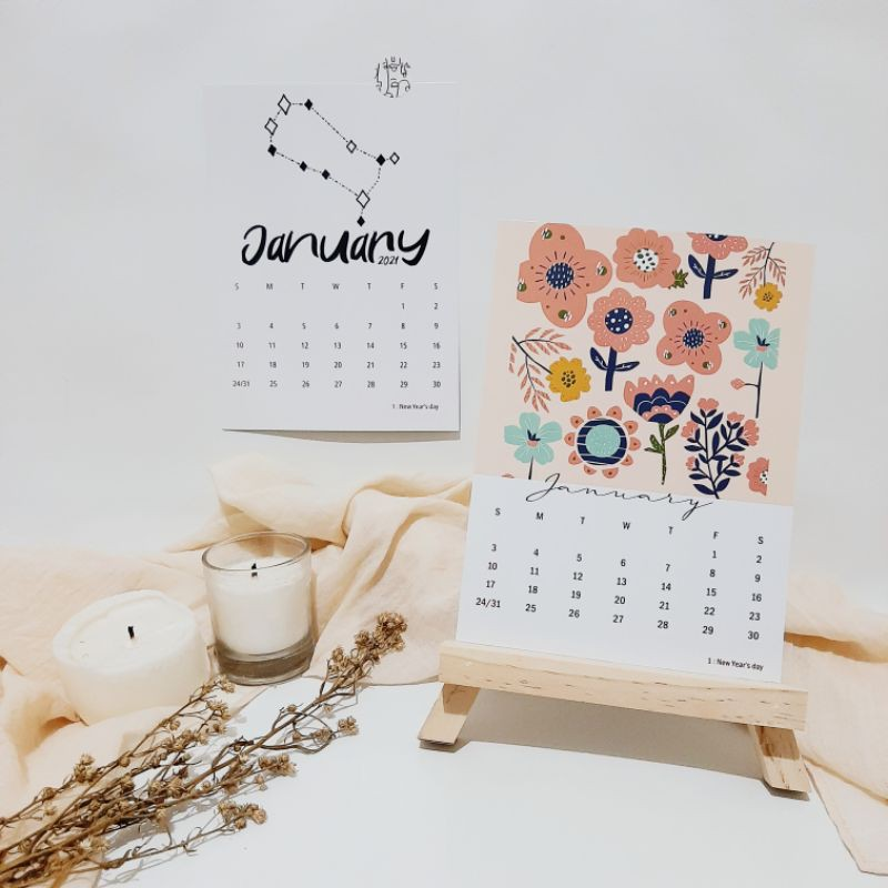 Kalender Aesthetic 2021 size A5 | Shopee Indonesia