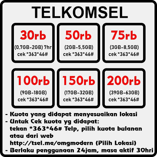 Isi Ulang Paket Internet Telkomsel Flash Data Bulk Zona Kuota Murah Simpati As Loop 8gb 10gb 50gb Shopee Indonesia