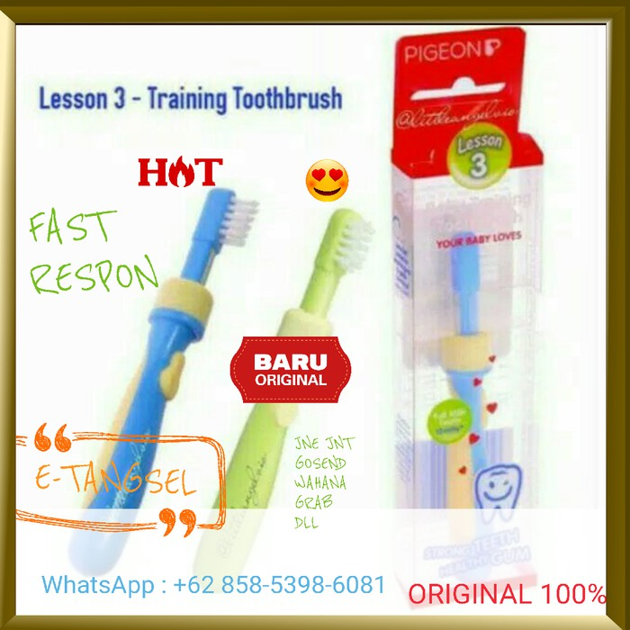 Flash Deal Sikat Gigi Bayi Anak Pigeon Training Toothbrush Lesson 2 Ibu Dan  Bayi 20 - 098ebc1d05