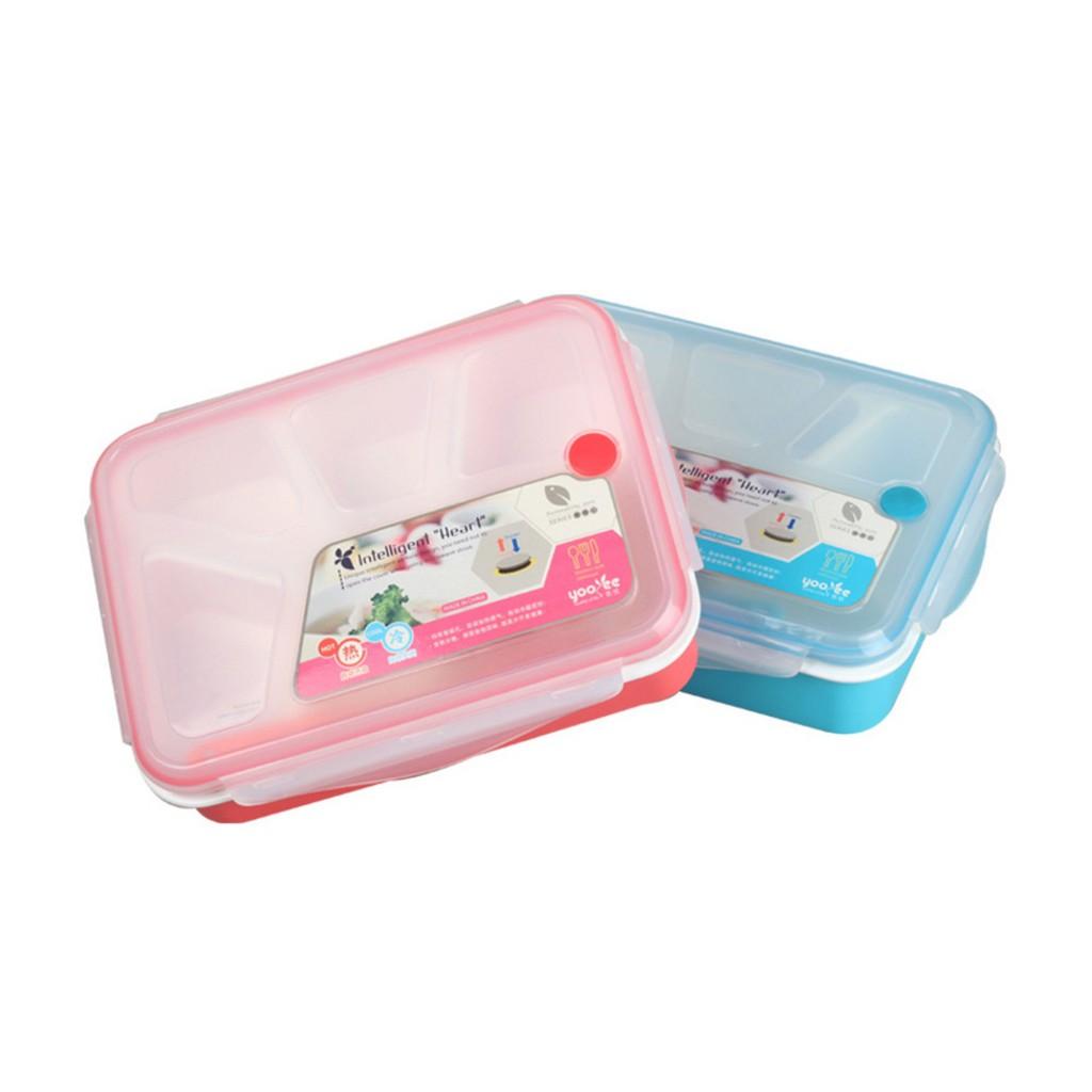 Yooyee Lunch Box 4 Sekat Bento 392 Kotak Bekal Makan Tempat Sup Leakproof 578 Anti Bocor Tosca Shopee Indonesia