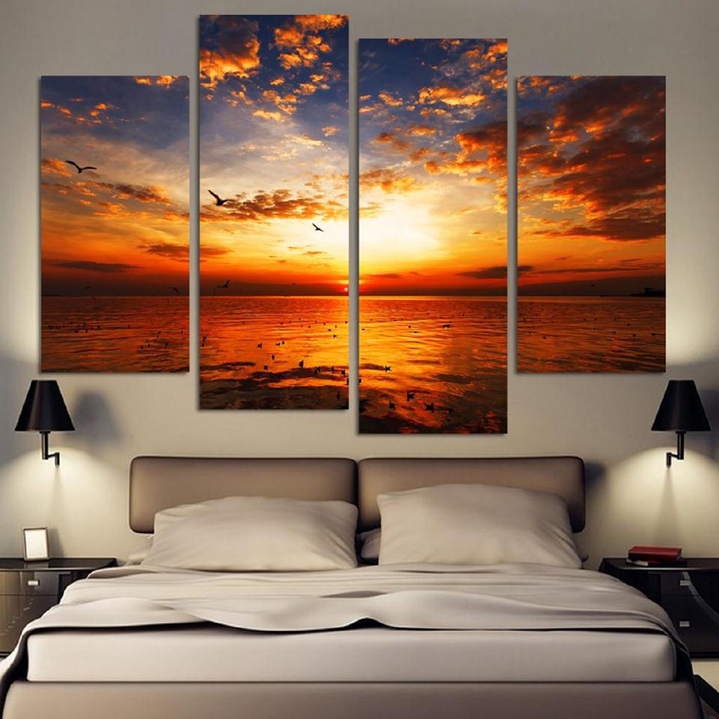 75 Lukisan Kanvas Pemandangan Sunset Gratis Terbaik