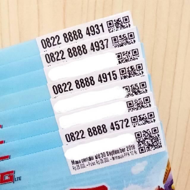 Nomor Cantik LOOP 4G LTE TELKOMSEL SEGEL Kartu Perdana Murah Nocan Triple Rasa Panca - 6550