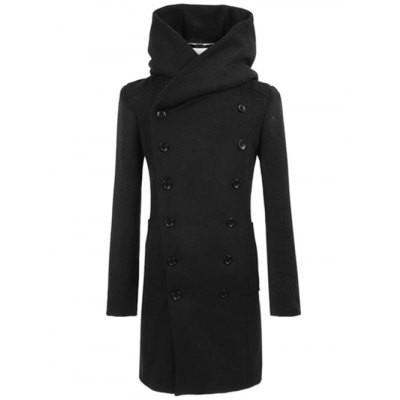 Musim dingin pria Fashion mantel wol mantel hitam abu-abu | Shopee Indonesia