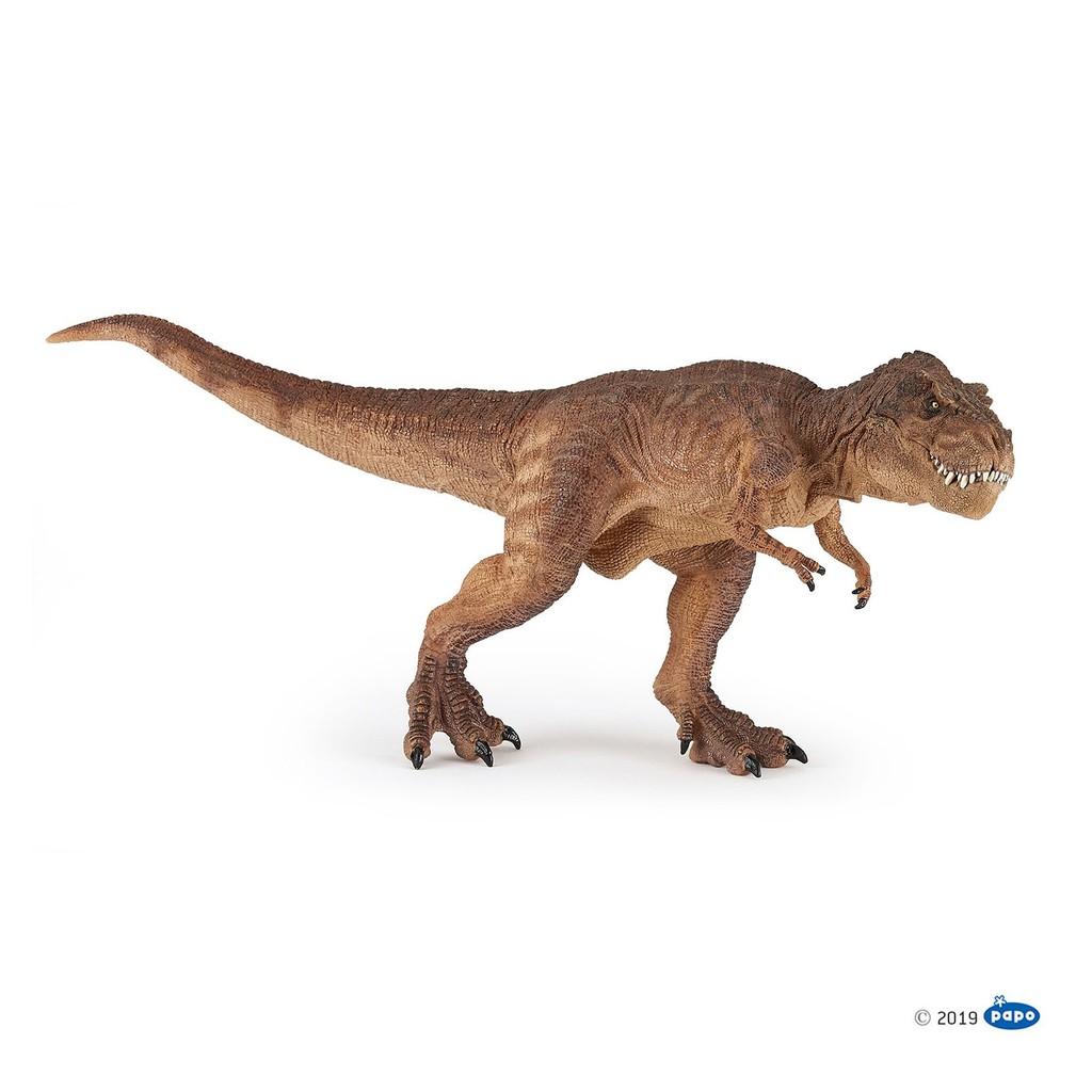 Brown Running T-Rex Figurine Papo Dinosaures-modèle 55075