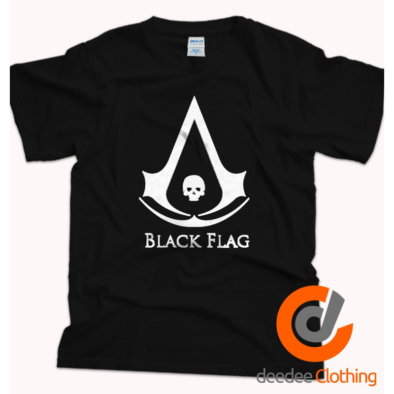 Kaos Premium Assassins Creed 4 Black Flag Skull Shopee Indonesia