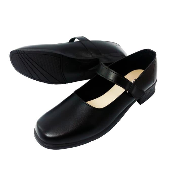 Aline Sepatu Paskibra Size 38 42 Hak 3 Cm Pantofel Wanita Hitam