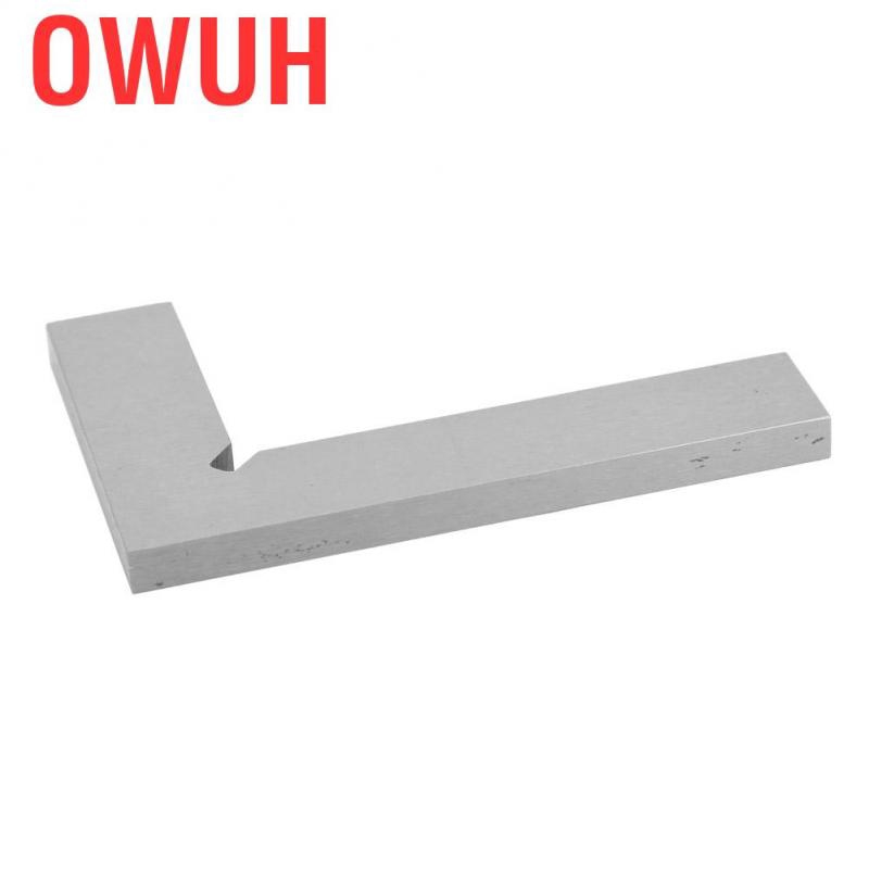75 x 50mm Stainless Steel Right Angle Ruler High Accuracy 2 Straight Edges 90 Degree for Flat Edge and Square Measurement