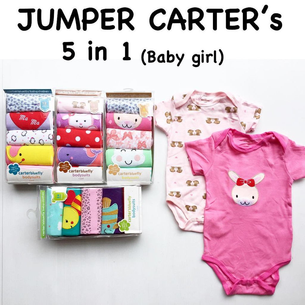 Jumper Carter 5 In 1 Boy Girl Carters Baby Grow By Love Shopee Indonesia