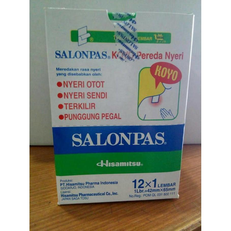 Salonpas Box Isi 12 Sachet Shopee Indonesia Koyo Pereda Nyeri