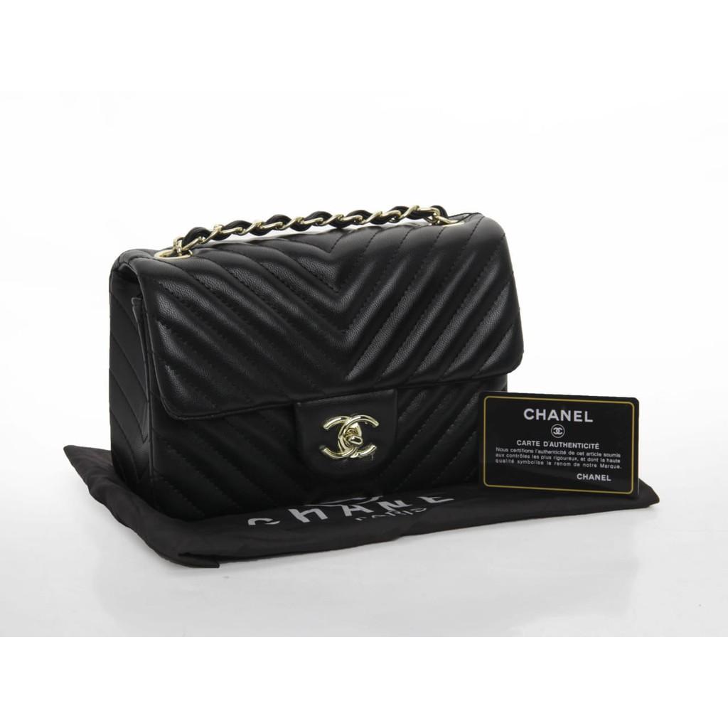 defcc144a2fd TAS BRANDED IMPORT MURAH - Clutch Chanel WOC Flap Classic Lambskin HITAM  Semprem AL33814 | Shopee Indonesia