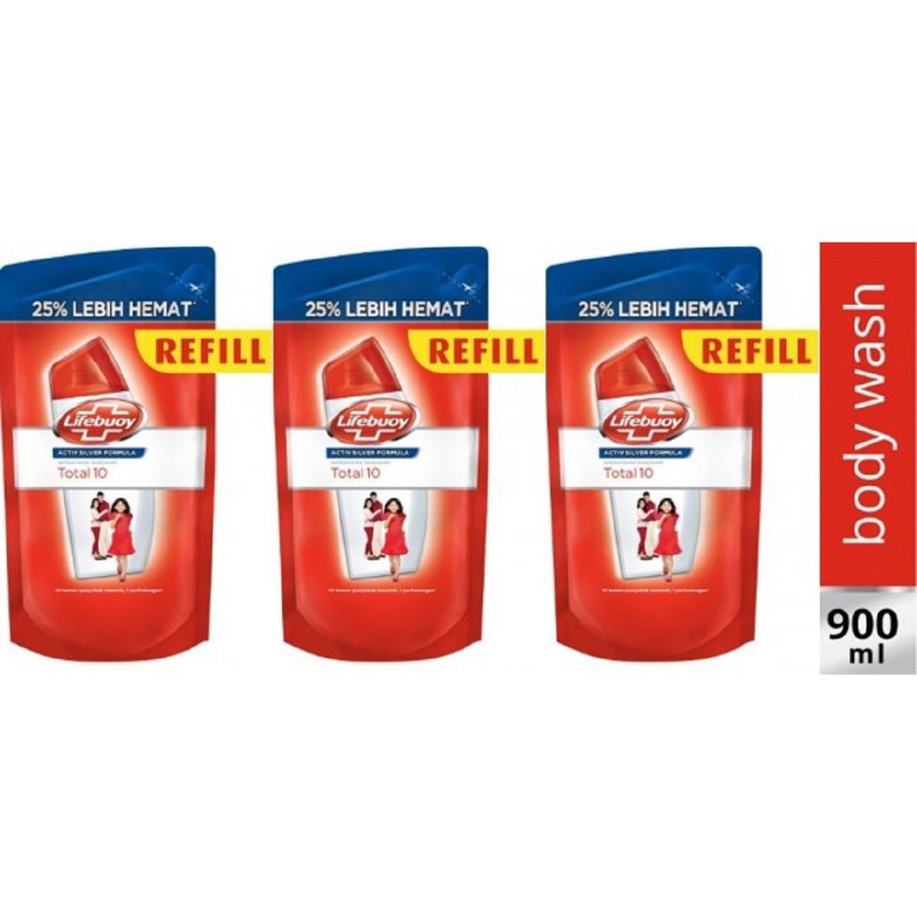 Lifebuoy Sabun Mandi Cair Total 10 Botol 300ml Shopee Indonesia Twin Packs Lux Magical Spell Refill 450ml