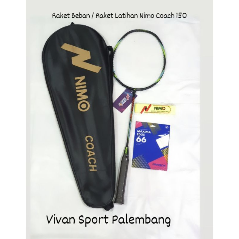 Raket Badminton Nimo Coach 150 / Raket Beban / Raket Latihan Nimo Coach 150gr