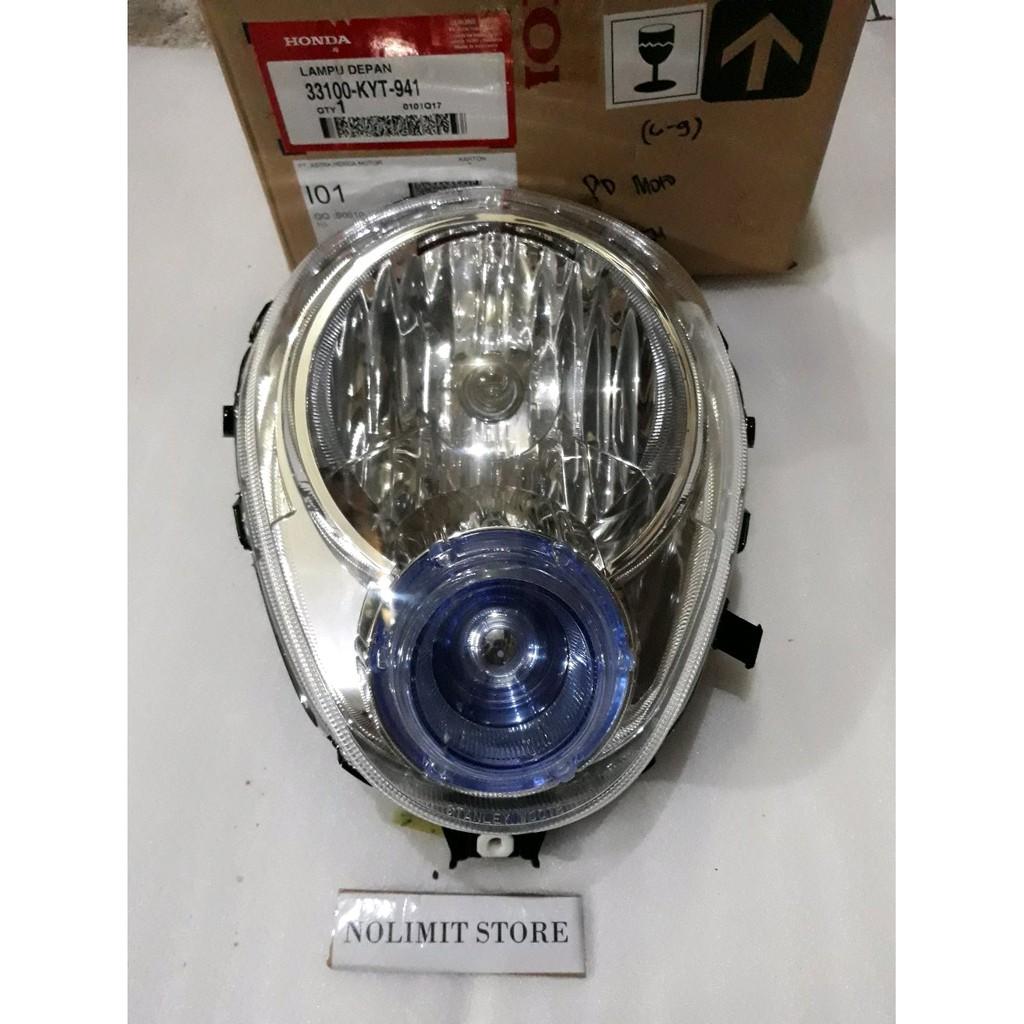 Terlaris reflektor lampu depan honda scoopy karbu assy asli Berkualitas | Shopee Indonesia
