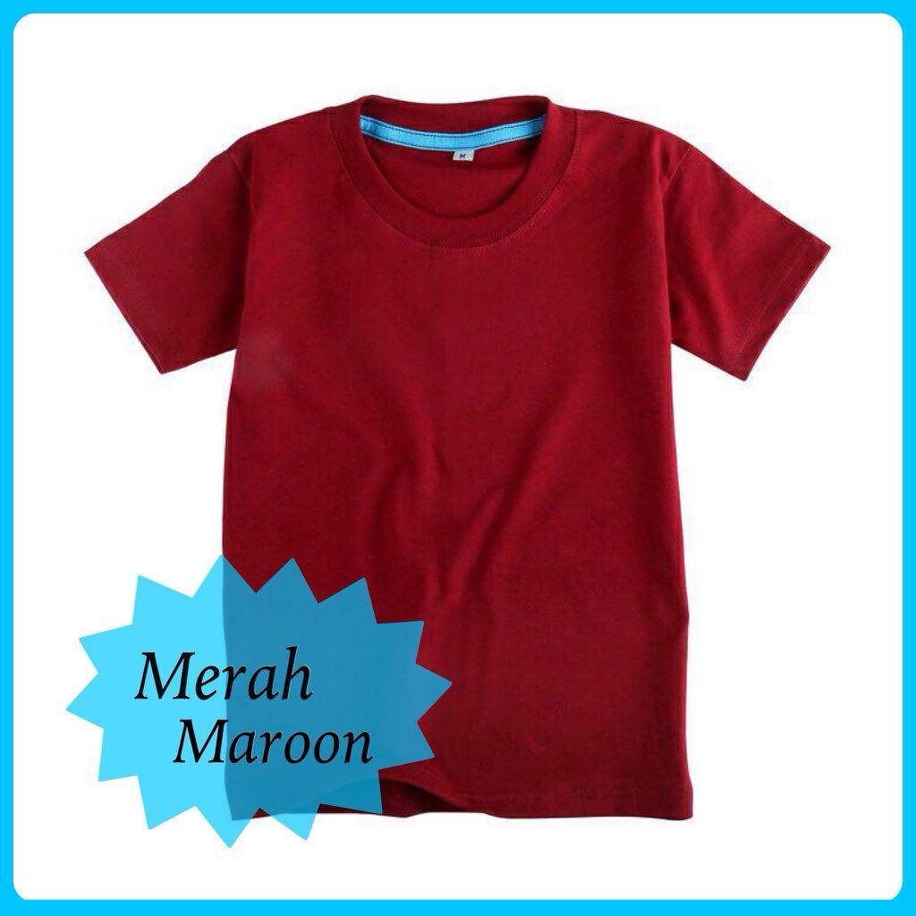 Jual Kaos Polos Kaos Polos Merah Maroon Kaos Polos Lengan Pendek