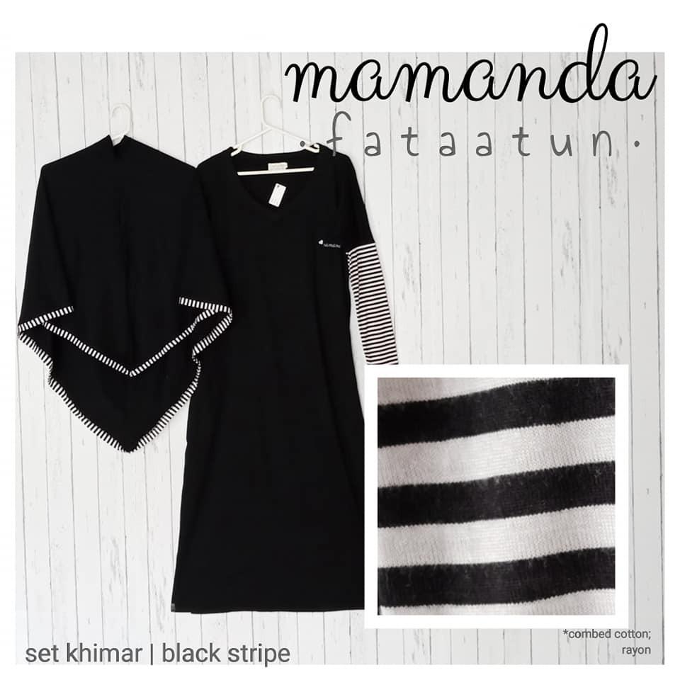 Gamis Remaja/Dewasa Black Stripe by Mamanda