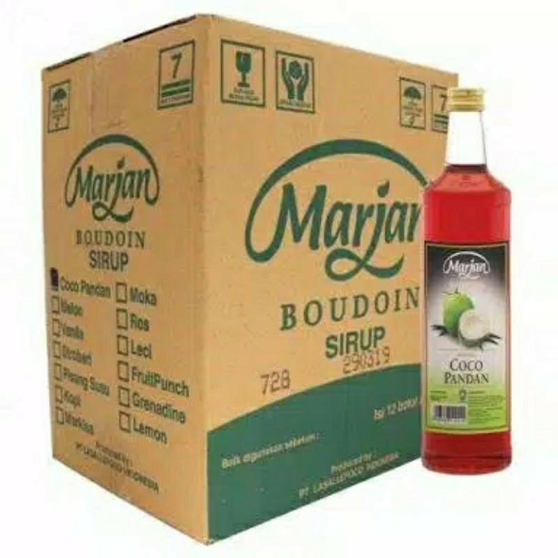 Sirup Marjan 1 dus isi 12 botol Cocopandan / Melon