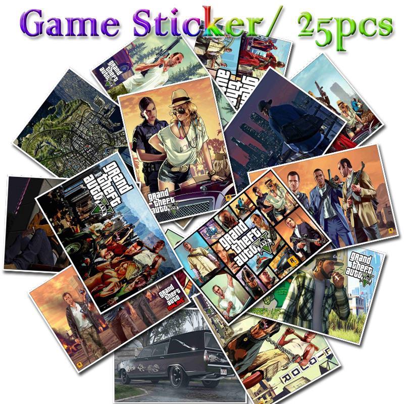 25pcs Video Game Decal Stickers Images For Laptop Suitcases Bikes Shopee Indonesia