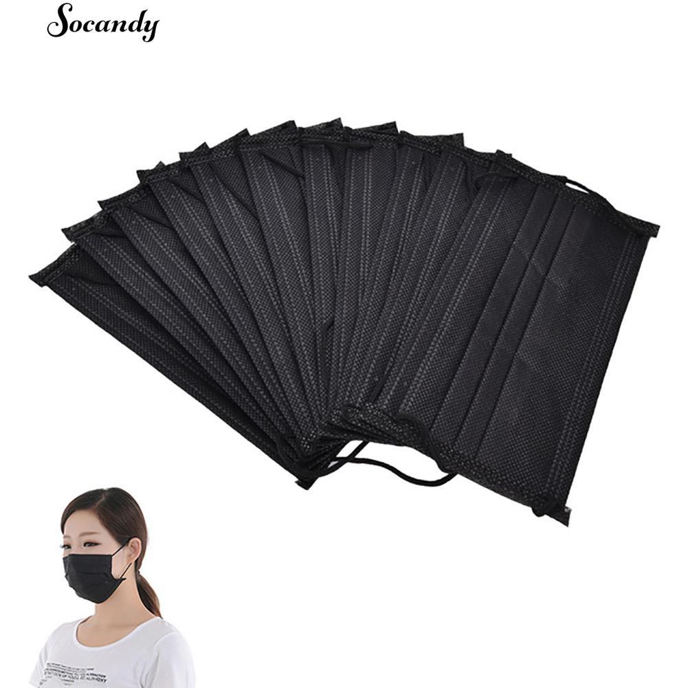 SOCANDY 10Pcs Masker Wajah Medikal Non Woven Sekali Pakai Anti Debu dengan Tali Telinga   Shopee