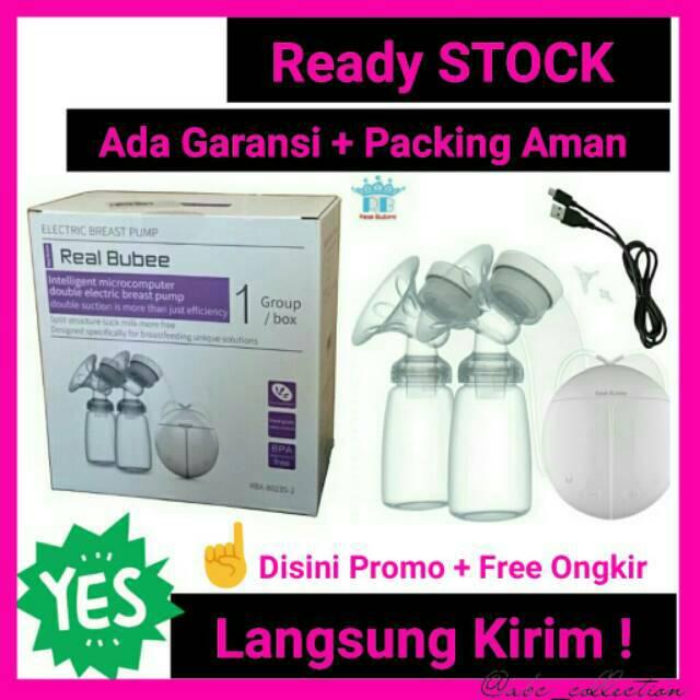 Pompa asi elektrik real bubee breast pump/Breastpump real bubbe double electric | Shopee Indonesia