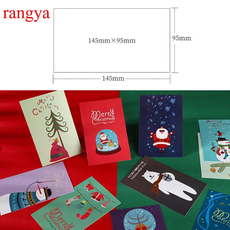 1 Box Of 30 Sheets Can Be Mailed Christmas Postcard Thank You For Wishing Xmas Gift Card Shopee Indonesia