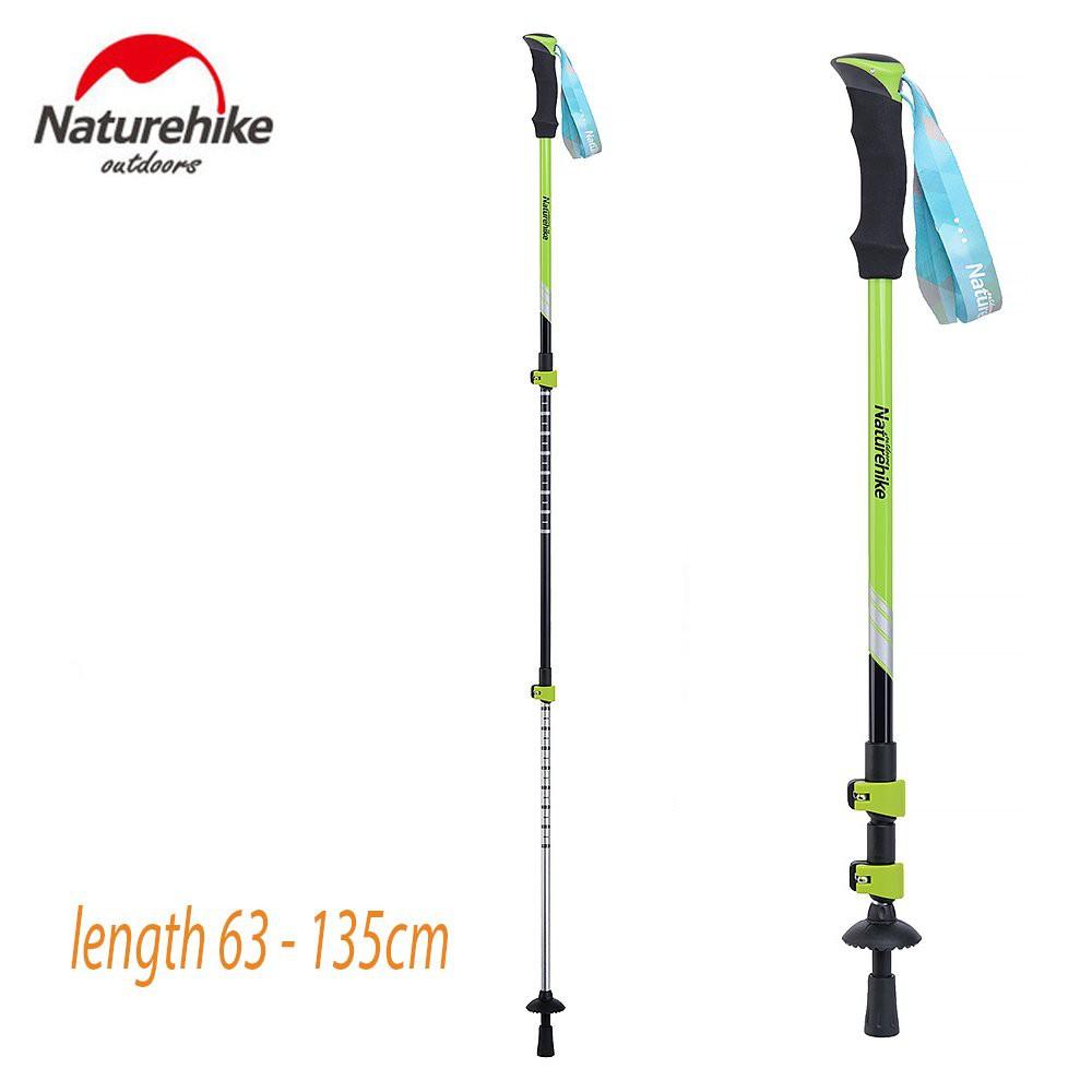 Trekking Pole Naturehike Clip Lock Quick Release Hijau 135cm Max Tongkat Jalan Gunung Hiking Outdoor | Shopee Indonesia