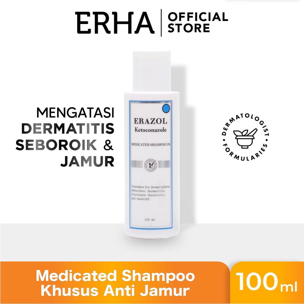 ERHA Erazol Shampoo 100 ml - Sampoo Khusus Infeksi Jamur Kulit Kepala