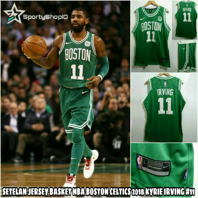 huge selection of 9f92d 926e7 JERSEY SETELAN BASKETBALL NBA BOSTON CELTICS KYRIE IRVING #11 SEASON 2018