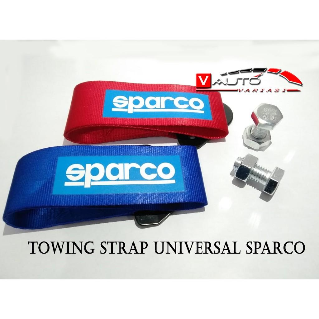 Dummy Towing Strap Sparco Merah Hook Racing Universal Strep Jdm Mobil Car Ter Shopee Indonesia