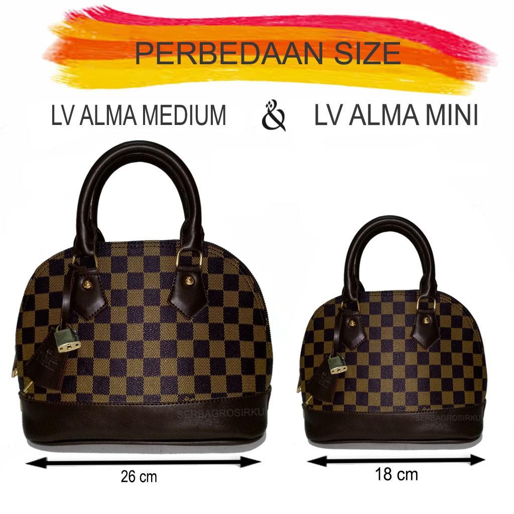 tas lv alma uk 26 damier fashion import batam slingbag slempang tas wanita  murah handbag marc jacobs  9a28e0ee91