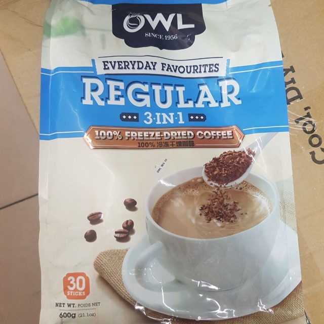 OWL White Coffee Tarik (Brown Sugar) 3 in 1 INSTANT (15 Sachets)