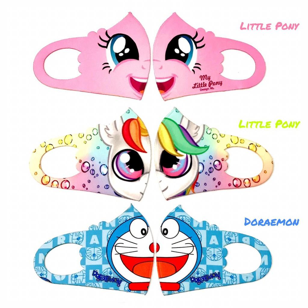 Masker Anak Scuba Karakter Kartun Hero Lucu Doraemon Little Pony Bahan Scuba New Premium Printing Shopee Indonesia