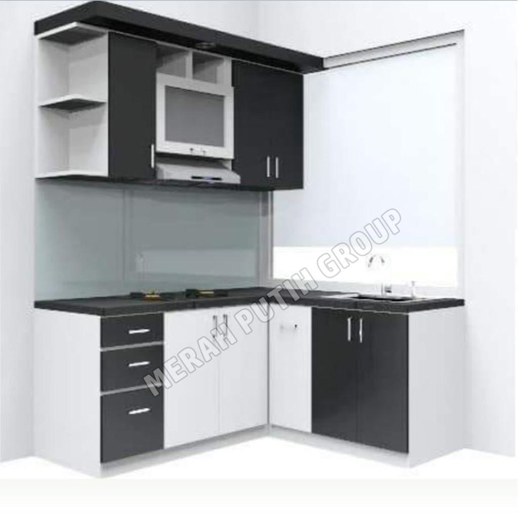 Kitchen Set Metro  Minimalis - Modern - Lengkap  Putih Hitam
