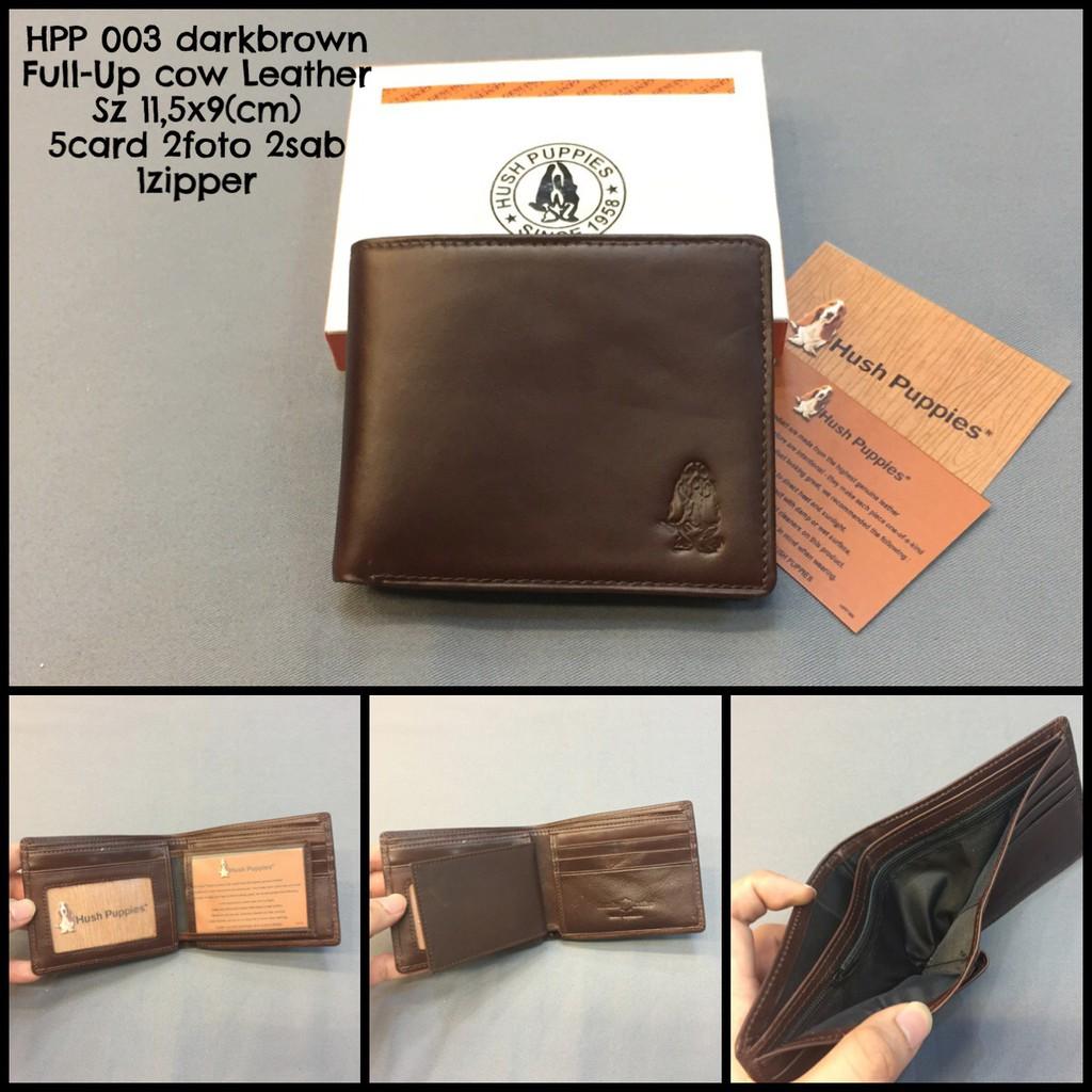 Dompet hush puppies 024N brown natural premium quality dompet kulit dompet  cowok dompet murah import  71346ad205