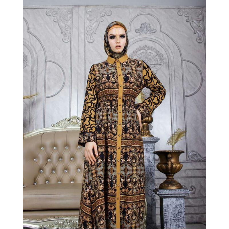 HIKMAT / Gms A 9976 Black by Hikmat / Hikmat Fashion / Gamis Elegant / Hikmat Indonesia