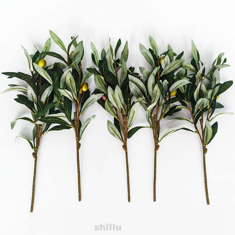5pcs Fruits Office Craft Living Room Olive Branches Home Decor Artificial Plant Shopee Indonesia